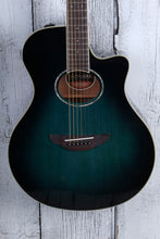 Load image into Gallery viewer, Yamaha APX600 Thinline Cutaway Acoustic Electric Guitar Oriental Blue Burst