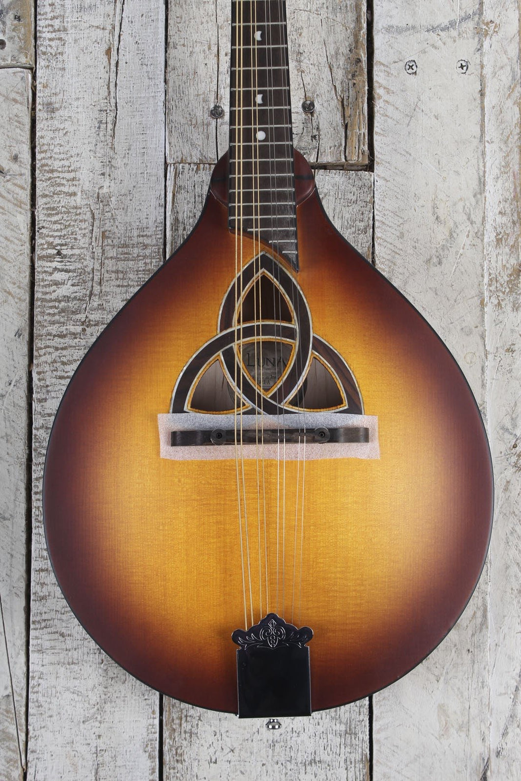 Luna Trinity A Style Mandolin Solid Spruce Top Solid Maple Body Tobacco Burst
