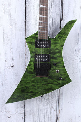Jackson X Series Kelly KEXQ Electric Guitar Quilt Maple Top Transparent Green