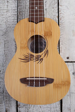 Load image into Gallery viewer, Luna Bamboo Soprano Ukulele Satin Natural Finish UKE BAMBOO S with Gig Bag
