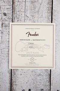 Fender® Limited Edition 60th Anniversary 4 String Jazz Bass Guitar w Case & COA