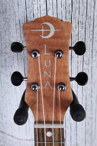 Luna High Tide Exotic Mahogany Concert Ukulele Natural UKE HTC EXM with Gig Bag