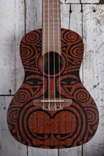 Load image into Gallery viewer, Luna Ukulele All Mah Body Uke 15 Inch Scale Satin Natural UKE TRIBAL CONCERT