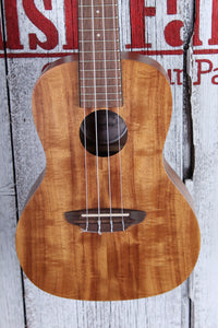 Luna Flamed Acacia Concert Ukulele Satin Natural Finish UKE ACC with Gig Bag
