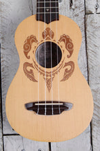 Load image into Gallery viewer, Luna Honu Turtle Spruce Soprano Ukulele Satin Natural UKE HONU SPR with Gig Bag