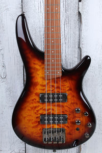 Ibanez SR400EQM 4 String Electric Bass Guitar Dragon Eye Burst with Power Tap