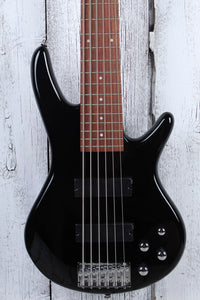 Ibanez GIO Soundgear GSR206 6 String Electric Bass Guitar Phat II EQ Black Gloss