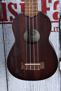 Kala Satin Mahogany Soprano Hawaiian Islands Ukulele Satin Finish Uke KA-15S-H1