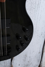 Load image into Gallery viewer, Dean Rhapsody 12 Trans Black 12 String Electric Bass Guitar EMG HH RH12 TBK