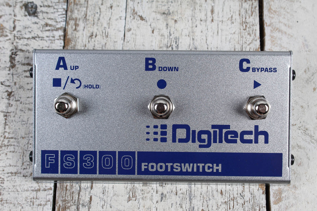 Digitech FS300 3 Position Multi Function Footswitch Foot Controller Effect Pedal