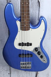 Squier Contemporary Jazz Bass 4 String Electric Bass Guitar Ocean Blue Metallic
