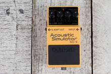 Load image into Gallery viewer, Boss AC-3 Acoustic Simulator Pedal Electric Guitar Effects Pedal w FREE Cables
