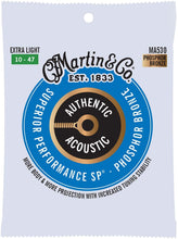 Load image into Gallery viewer, Martin Guitar MA530 Authentic Acoustic Extra Light Guitar Strings, 92/8 Phosphor Bronze