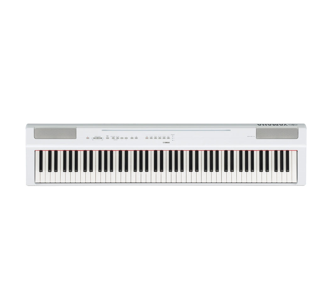 Yamaha P125 White 88 Key Graded Hammer Digital Piano with Power Supply & Pedal