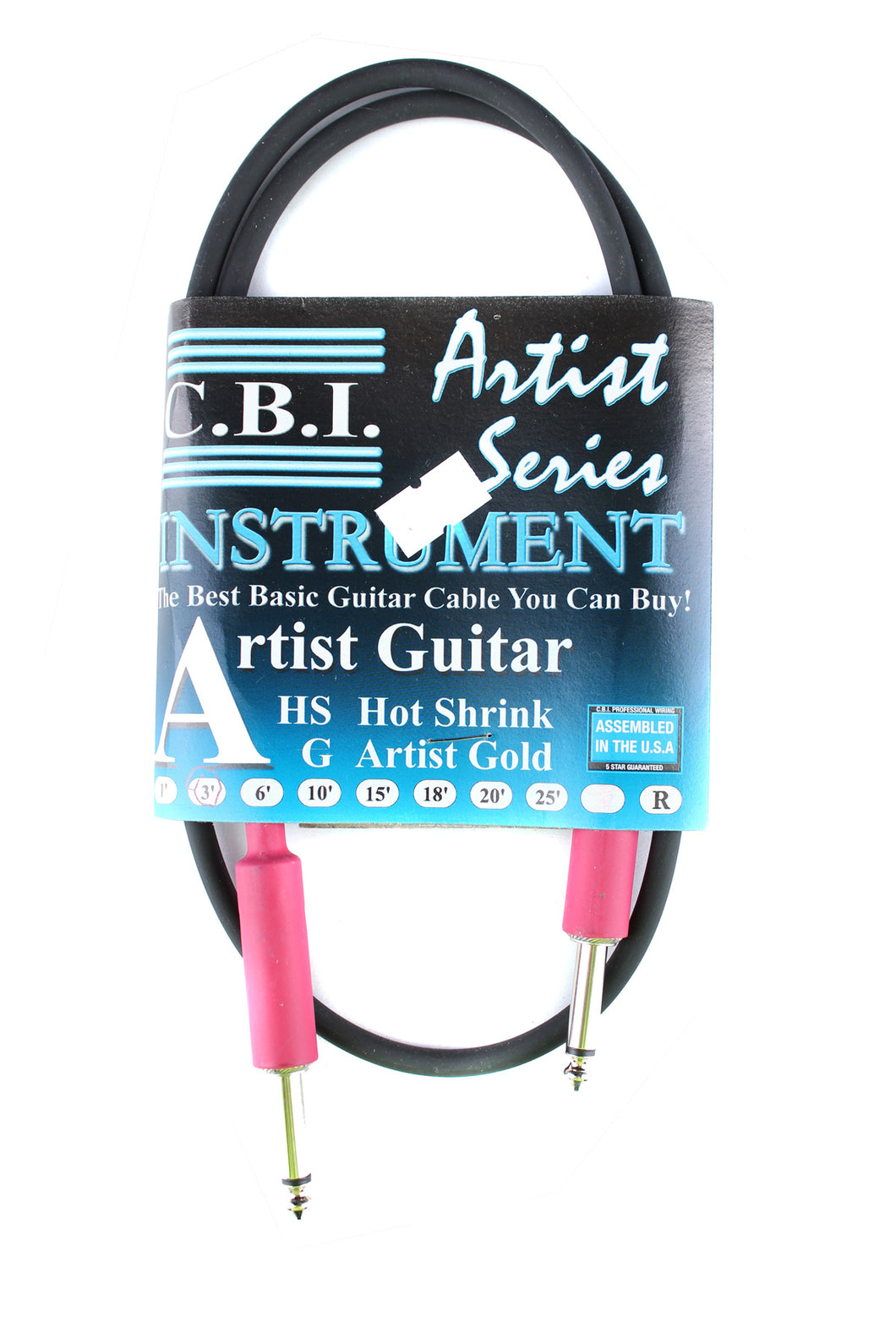 CBI Artist Hot Shrink Instrument Cable 3' Straight