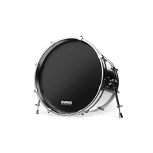 Load image into Gallery viewer, Evans EQ3 Resonant Black Bass Drum Head, No Port, 22 Inch