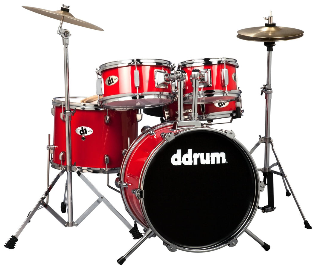 Ddrum D1 5-piece Candy Apple Red Junior Drum Set w/Cymbals