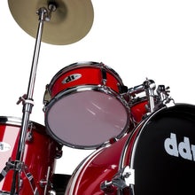 Load image into Gallery viewer, ddrum D1 Junior Complete 5 Piece Drum Set with Cymbals and Throne Candy Red