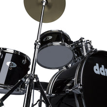 Load image into Gallery viewer, ddrum D1 Junior Complete 5 Piece Drum Set with Cymbals and Throne Midnight Black