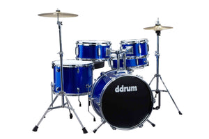 Ddrum Ddrum D1 Junior 5 Piece Drumkit with Hardware Cymbals Sticks Police Blue