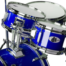 Load image into Gallery viewer, ddrum D1 Junior Complete 5 Piece Drum Set with Cymbals and Throne Police Blue