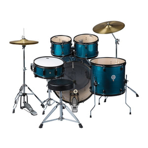 ddrum D2 Player Complete 5 Piece Drum Set w Cymbals and Hardware Blue Pinstripe