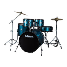 Load image into Gallery viewer, ddrum D2 Player Complete 5 Piece Drum Set w Cymbals and Hardware Blue Pinstripe