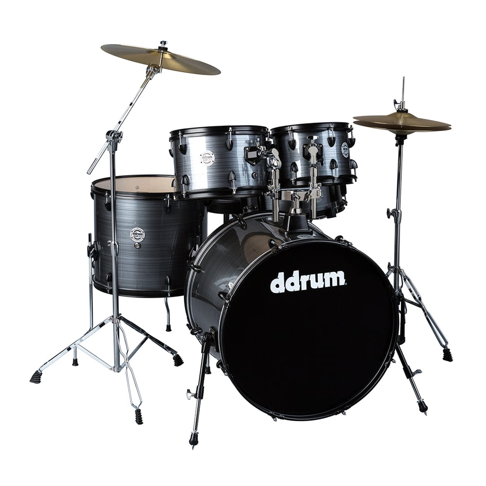 ddrum D2 Player Complete Drum Set with Cymbals & Hardware Grey Pinstripe D2P GPS