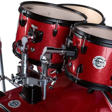 Load image into Gallery viewer, ddrum D2 Player Complete 5 Piece Drum Set with Cymbals and Hardware Red Sparkle