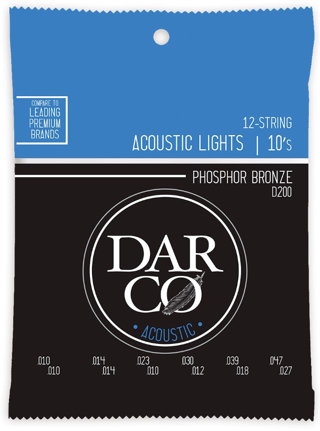 D200 Darco Acoustic 92/8 Light 12 String Set