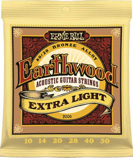 Ernie Ball Earthwood Extra Light Acoustic Guitar Strings (.10-.50)