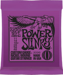 Ernie Ball 2220 Power Slinky 6-String Nickel Wound Electric Guitar Strings