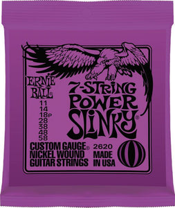 Ernie Ball 2620 Power Slinky 7-String Nickel Wound Electric Guitar Strings