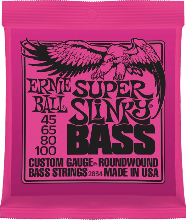 Ernie Ball 2834 Super Slinky 4-String Bass Nickel Wound Bass Strings