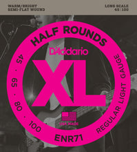 Load image into Gallery viewer, D'Addario ENR71 XL Half Rounds Regular Light Long Scale Bass Strings