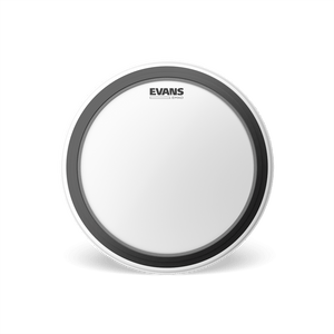 BD22EMADCW Evans EMAD Coated White Bass Drum Head, 22 Inch
