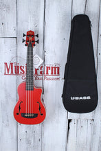 Load image into Gallery viewer, Kala Journeyman U Bass Acoustic Electric Ukulele Bass Matte Red with Gig Bag