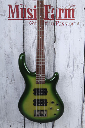 Dean Edge 3 4 String Electric Bass Guitar DMT HH Green Metallic Burst E3 EGMB