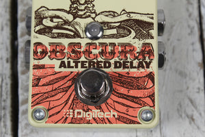 Digitech OBSCURA Altered Delay Electric Guitar Effects Pedal w StompLock and Pad