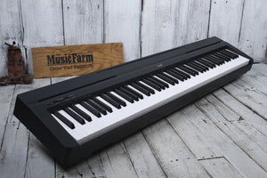 Yamaha P45B 88 Key Digital Piano with Power Supply & Sustain Pedal in Black