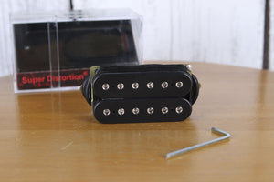 DiMarzio Super Distortion Pickup Electric Guitar Bridge Humbucker Black DP100BK
