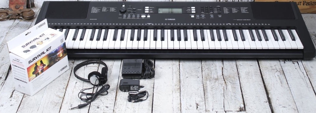 Yamaha PSREW300 Touch Sensitive 76 Key Keyboard with Survival Kit and Warranty