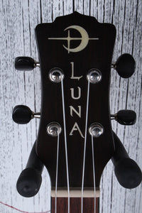 Luna UKE MO CDR Concert Solid Cedar Top Acoustic Electric Ukelele with Gig Bag