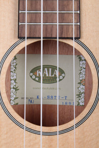 Kala KA SSTU T Thinline Travel Tenor Ukulele Solid Spruce Top Uke with Gig Bag