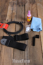 Load image into Gallery viewer, Boss Guitar Care Kit with Strap Polish Cloth Winder Picks Cable and Carrying Bag