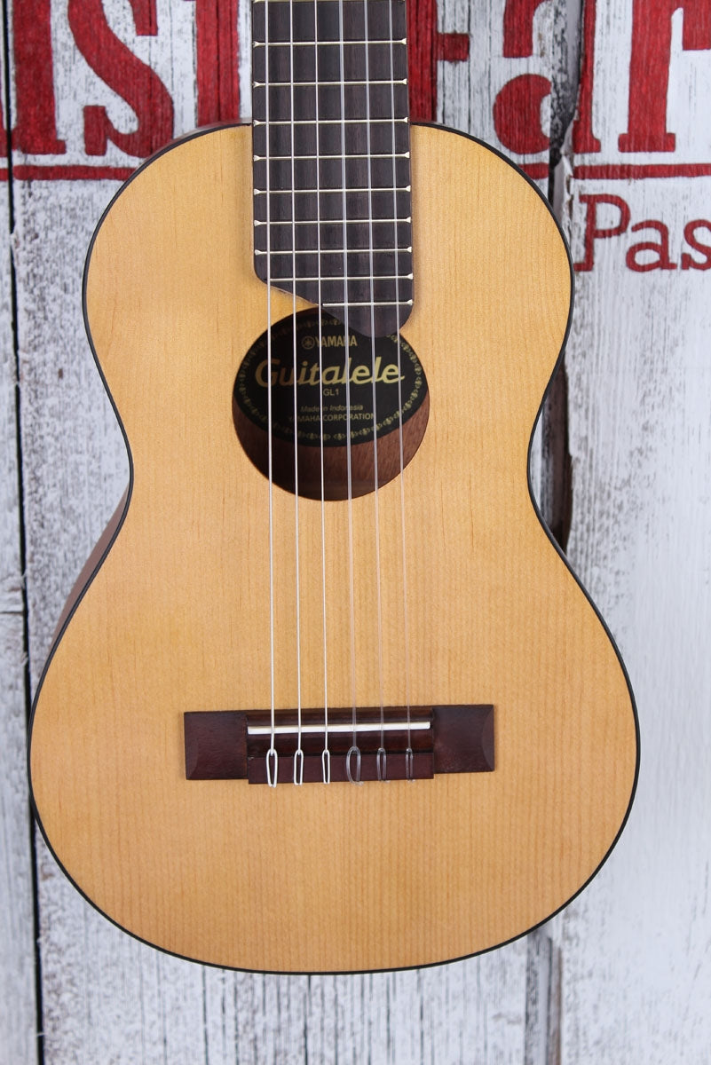 Yamaha GL1 Guitalele 6 String Acoustic Guitar Ukulele Uke Natural with Gig Bag