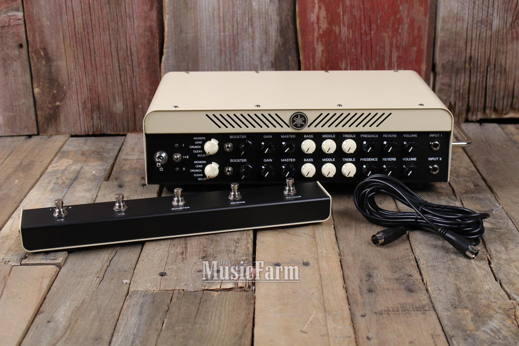 Yamaha THR100HD Dual Electric Guitar Amplifier Head Modeling Amp w Footswitch