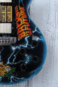 Hill Back to The Future CLEVELAND USA Made Custom Electric LP Guitar w Case BTTF