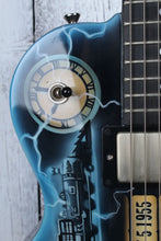 Load image into Gallery viewer, Hill Back to The Future CLEVELAND USA Made Custom Electric LP Guitar w Case BTTF