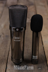 CAD Audio GXL2200BPSP Black Pearl Condenser Microphone Cardioid Studio Pack